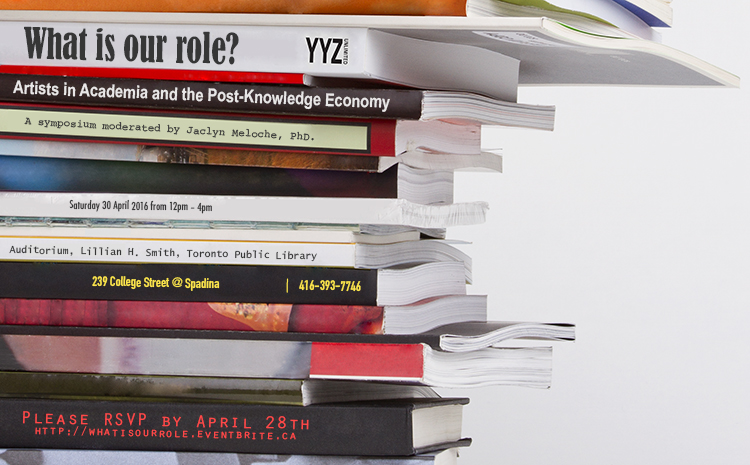 What is our Role? : Artists in Academia and the Post-Knowledge Economy