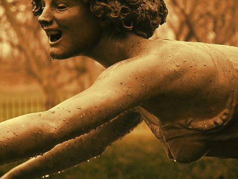 NY- Central Park Conservatory- Three Girls Fountain