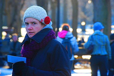 NY- Christmas day in Central Park- People Watching