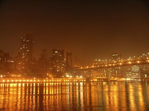 NY- New York City Skyline form Roosevelt Island