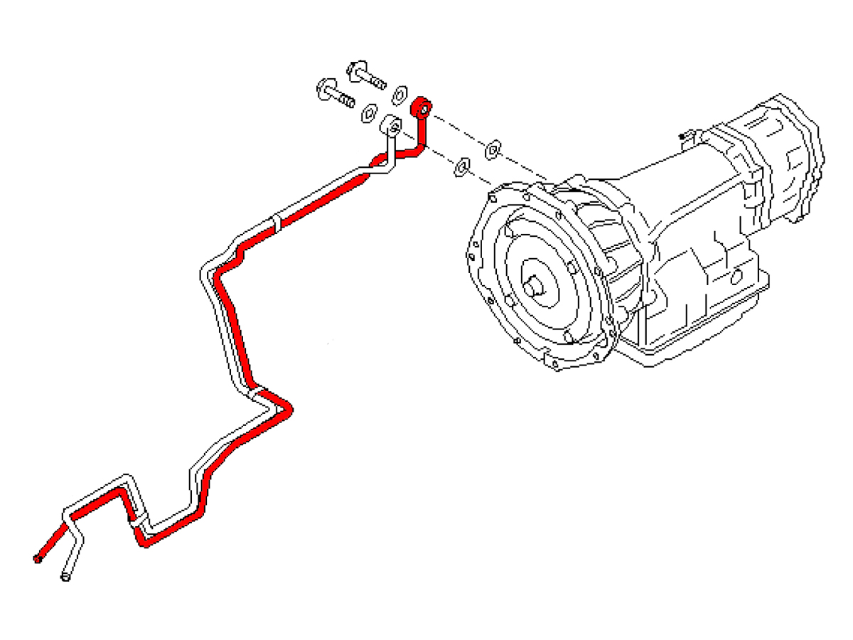 Oem Automatic Transmission Cooler Line