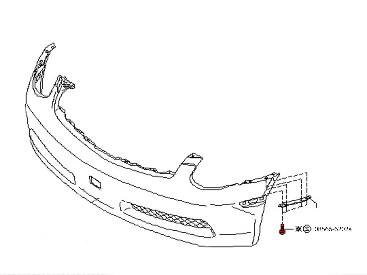 Oem Nissan Infiniti Front Bumper Screw Z1 Motorsports