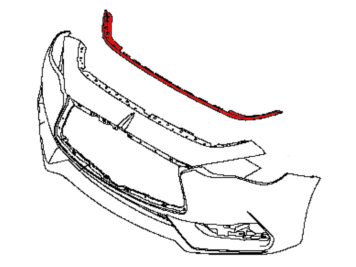Oem 17 Q60 Upper Front Bumper Seal Z1 Motorsports