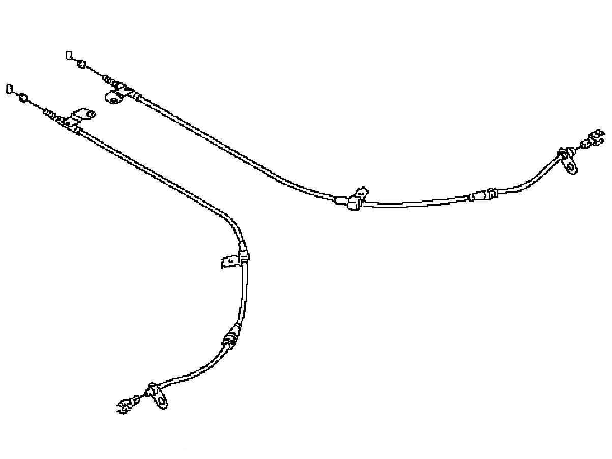 Oem G37 Sedan Rear Parking Brake Cable Z1 Motorsports