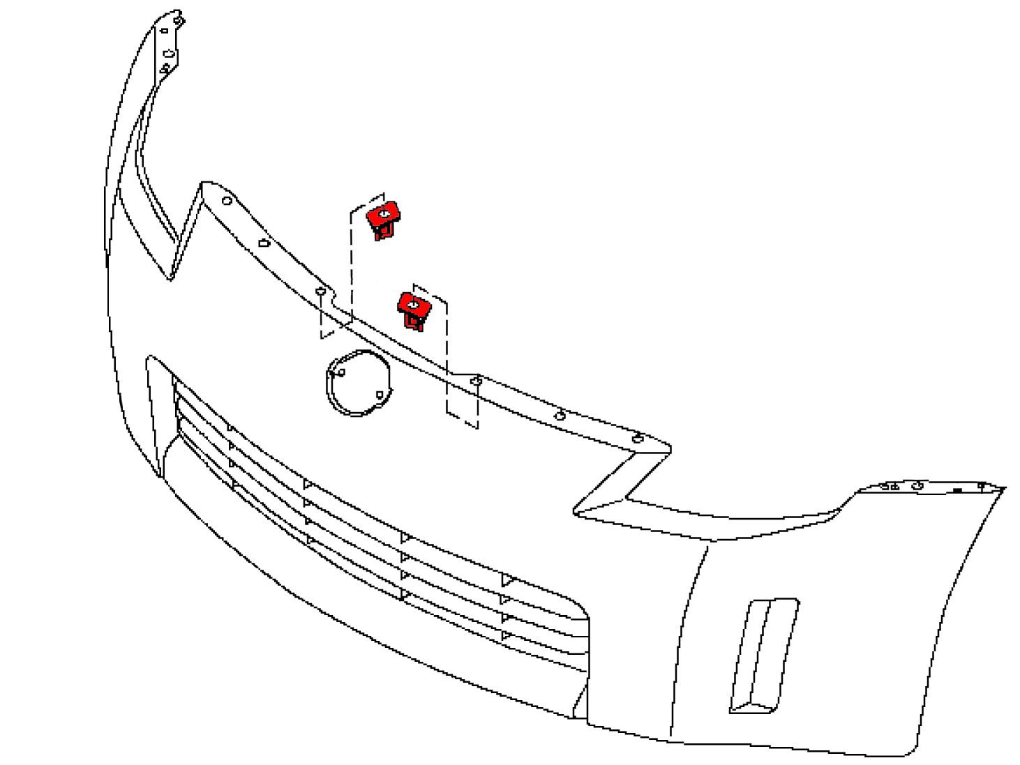 Oem 350z Front Bumper Clip Retainer Stiffener Z1
