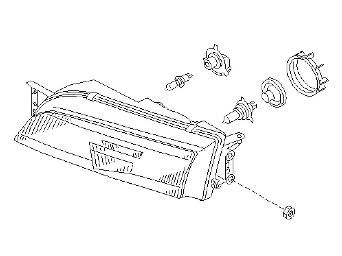 Oem S14 Zenki Headlamp Assembly Z1 Motorsports
