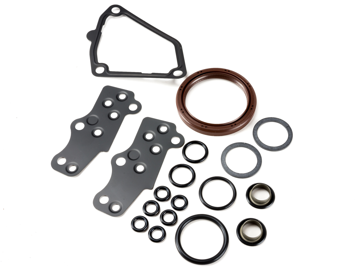 This timing cover seal and gasket kit includes the o rings and gaskets necessary when servicing your timing system the only seals in the timing covers that