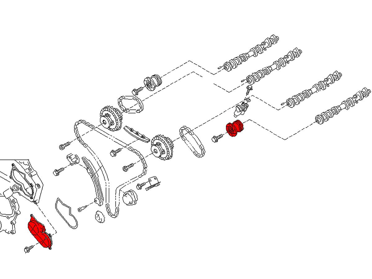 Oem Vq35de Rev Up Vtc Cover Amp Exhaust Cam Gear Z1