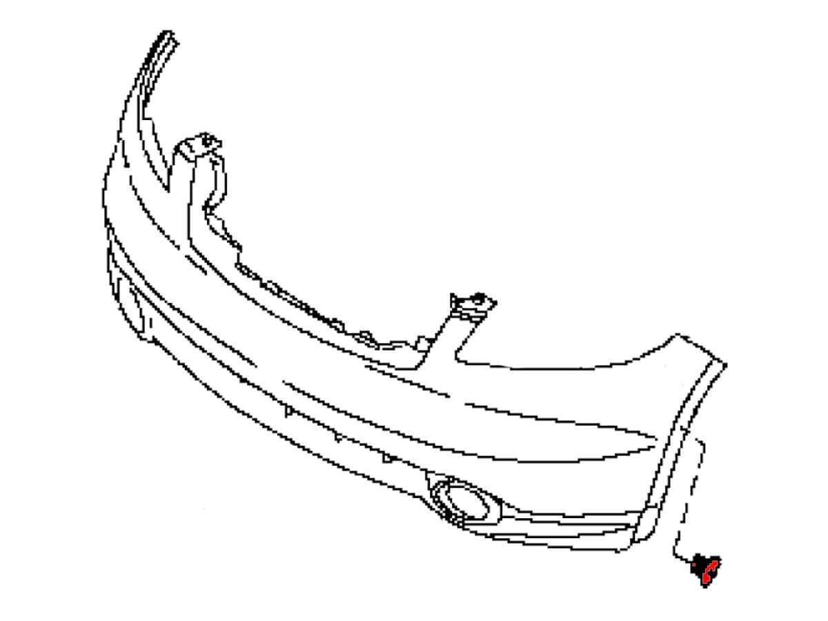 Oem Fx35 Fx45 Front Fascia Guide Bracket