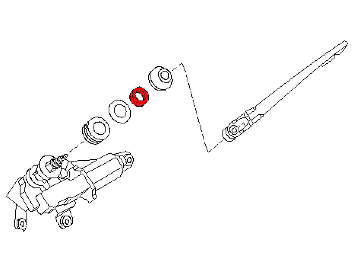 Oem Fx35 Fx45 Rear Window Wiper Pivot Nut Z1 Motorsports