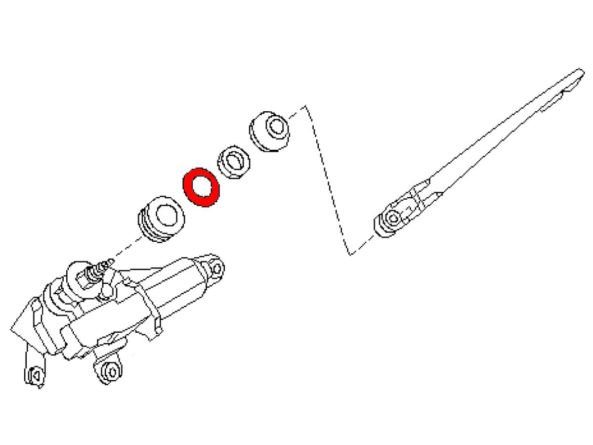 Oem Fx35 Fx45 Rear Window Wiper Pivot Washer Z1 Motorsports