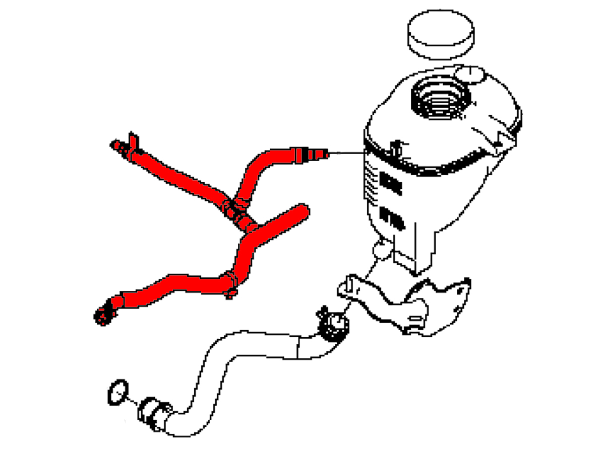 Oem Q50 Q60 Radiator Reservoir Bleed Off Hose Z1