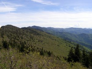 Looking south from the shoulder of Celo Knob