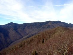 View of Black Mountains from southern cliff on Rocky Knob