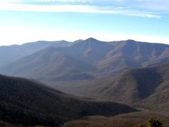View of Great Craggies from southern cliff on Rocky Knob