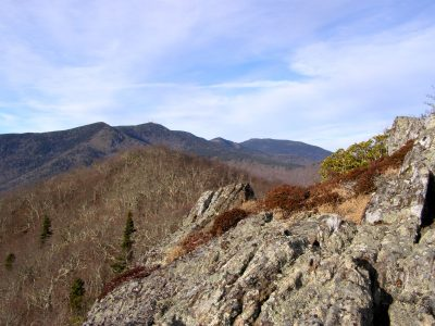View of Black Mountains from northern cliff on Rocky Knob
