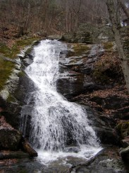The lowest drop of Lower Crabtree Falls