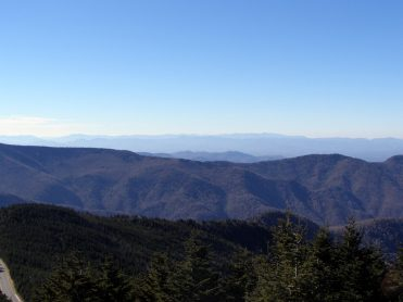 Southwest distant view of Great Smoky Mountains