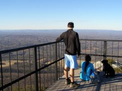 Chilling on Moore's Knob observation tower