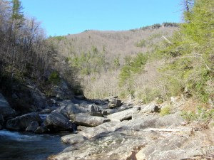 North view from Devil's Hole - Linville River