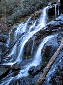 Side view of Catawba Falls
