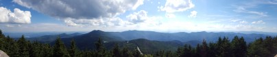 South-to-West panorama from Mt. Mitchell