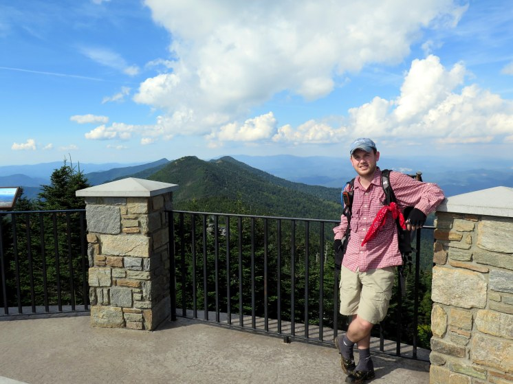 Yours truly on top of Mt. Mitchell after 12.4 miles of hiking