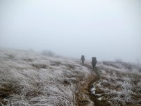 Hikers approaching the summit