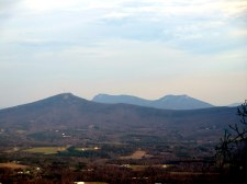 East zoom of Sauratown Mountain, Moore's Knob, and Cook's Wall from Jomeokee Trail