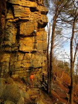 Rock climbers on Ledge Spring Trail