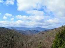 West view of Cold Mountain from the Mount Pisgah Parking Area
