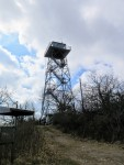 The 70-foot lookout tower on Fryingpan Mountain