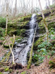 Side view of Little Fall Branch Falls