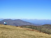 Bluff Mountain immediately north of Max Patch with the Bald Mountains beyond