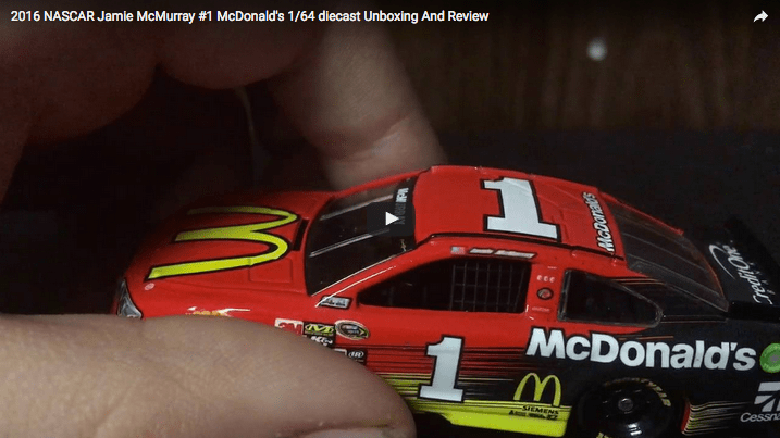 2016 NASCAR Jamie McMurray #1 McDonald's 1/64 diecast Unboxing And Review