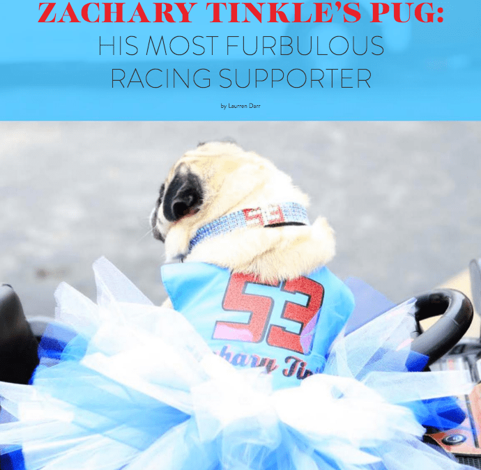 Zachary Tinkle and His Pug Bella Featured in Boomer Pet Magazine