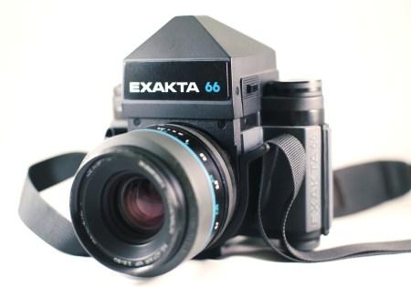 Exakta 66 camera.  Photo by Zach Horton.