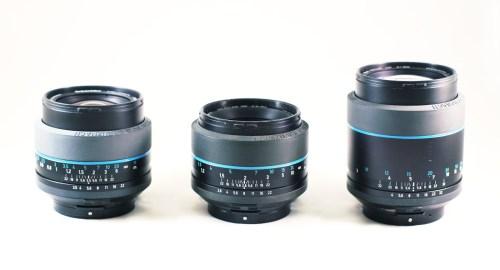 Exakta 66 lenses from left to right: 80mm, 60mm, 150mm