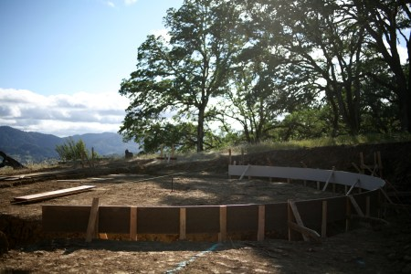 round foundation forming