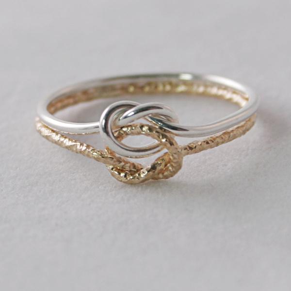 two tone knot rings yg argss 2 - مجلة ست الحسن