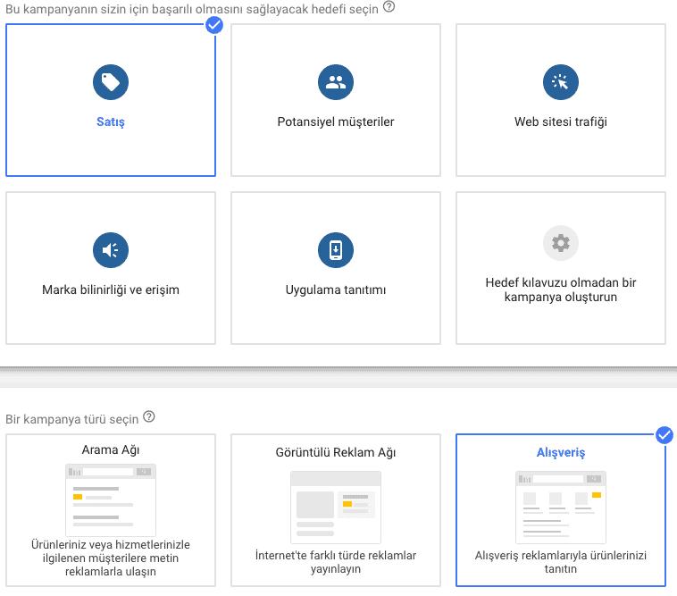 google alışveriş kampanyası oluşturma