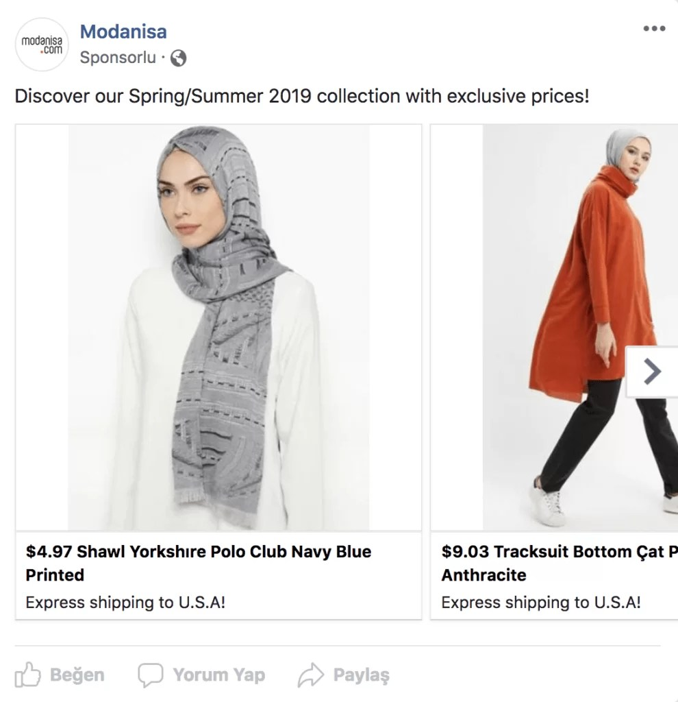 modanisa-facebook-rakip-reklam-stratejisi