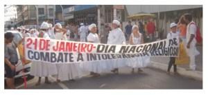 Caminhada Contra Intolerância Religiosa Movimenta Centro de Fortaleza. A caminhada se concentrou na Igreja do Carmo, seguindo pelas ruas do Centro até a Praça do Ferreira.