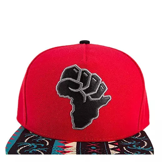 Africa Map Red Cap (Front View)