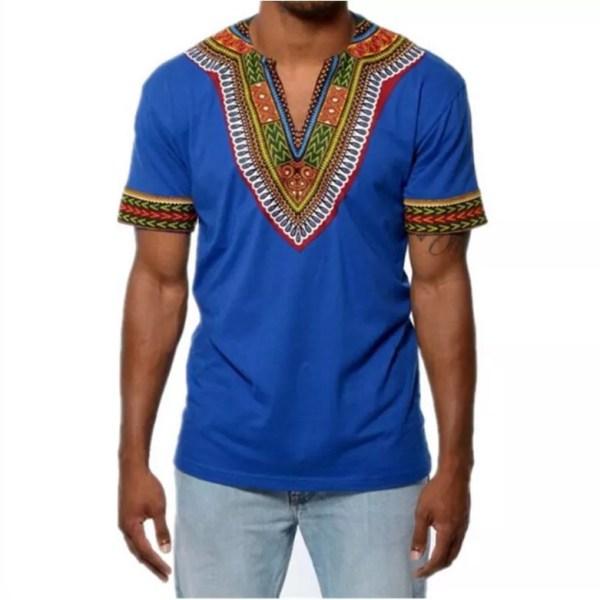 V Neck African T shirt
