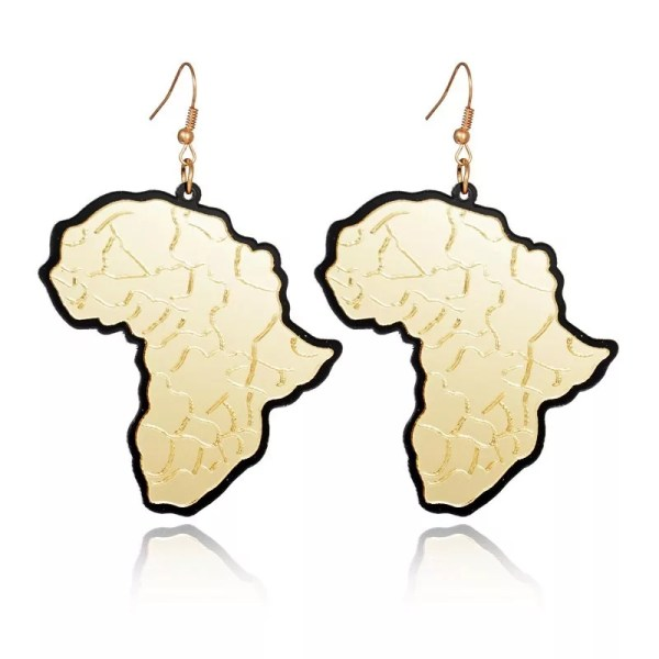 Acrylic Africa Map Drop Earrings