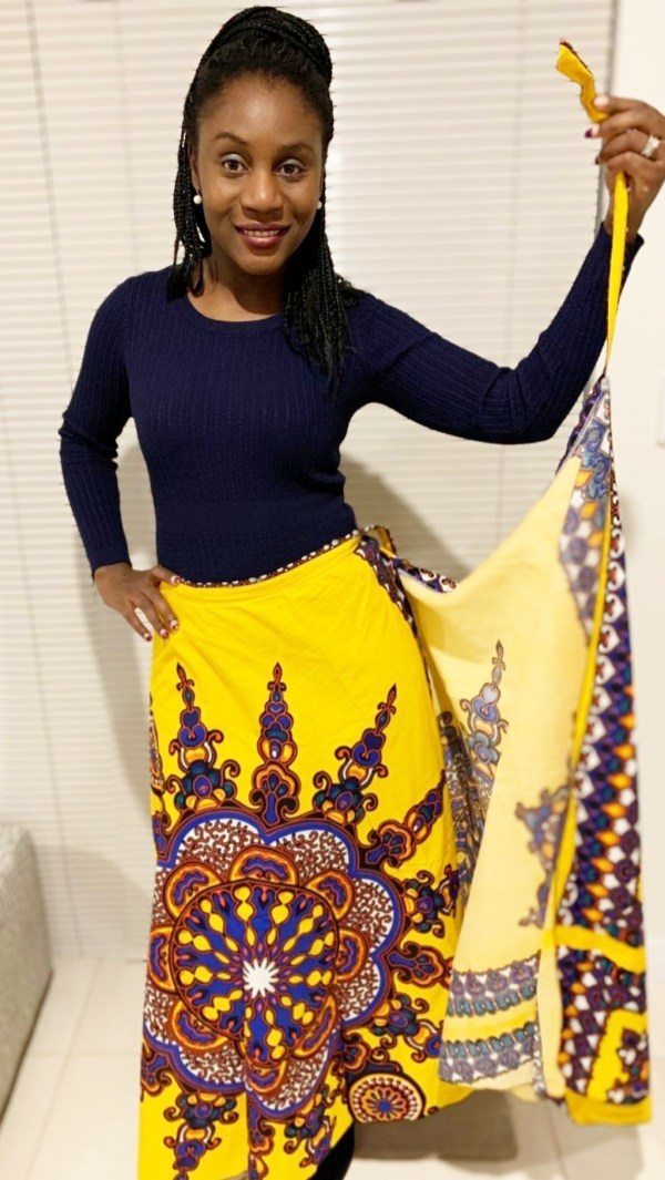Dashiki Wrap Skirt