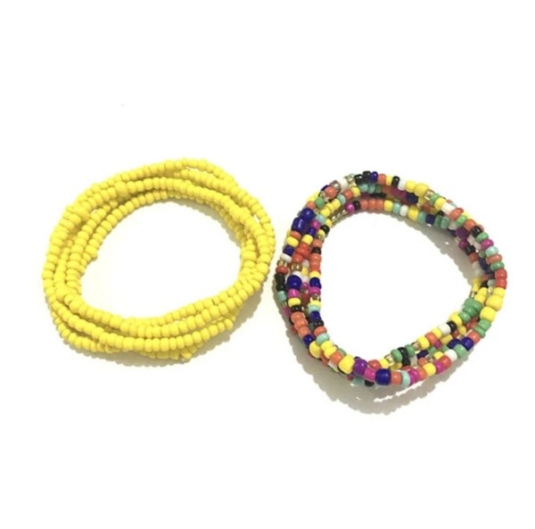 African Waist Beads (Mixed Yellow)