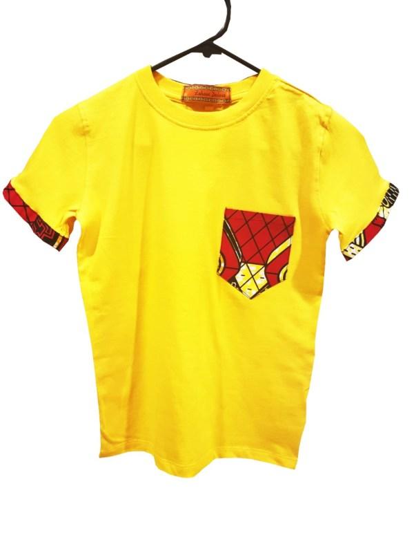 African Kids T-shirt Ankara (Yellow)
