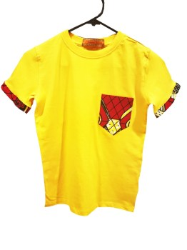 African Kids T-shirt Ankara (Yellow)